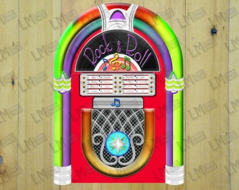 Fifties Jukebox Photo Booth Prop, Jukebox Props, Jukebox Photo Props, Grease Photo Props, PhotoBooth, Photo Booth Props, INSTANT DOWNLOAD