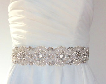 Rhinestone and Pearl wedding belt