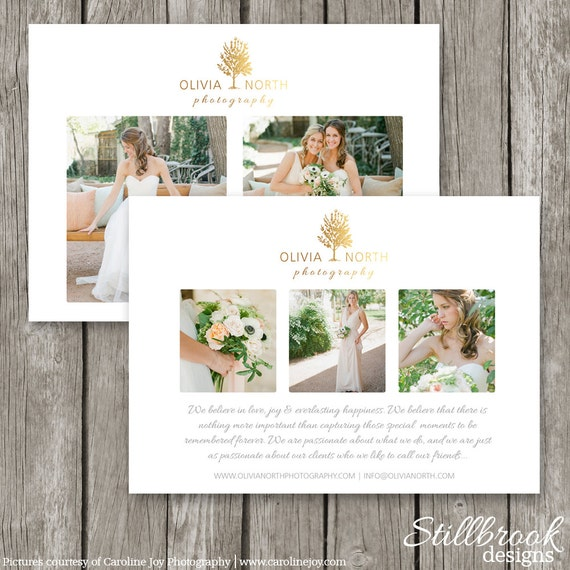 Marketing card template wedding photography promo card for Templates for wedding photographers