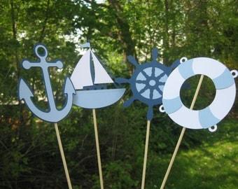 Nautical Table Centerpiece, Nautical Baby Shower Decorations, Nautical Bridal Shower Decorations