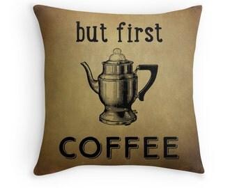 Coffee Pillow, Coffee Cushion, Funny Cushion, Shabby Chic Decor, Cafe Cushion, Funny Pillow, Coffee Decor, Cafe Pillow, Shabby Chic Coffee