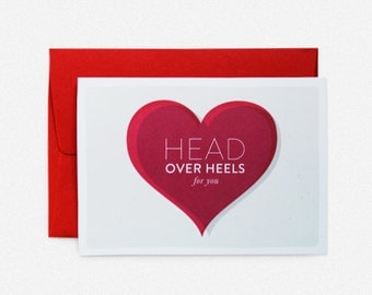 Head over Heels for you Greeting Card