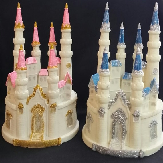princess castle wedding cake toppers pink castle cake topper princess by caketoppersboutique 18767