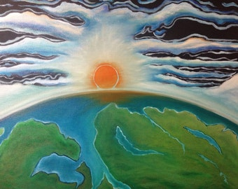 Heaven and Earth oil painting original hand painted