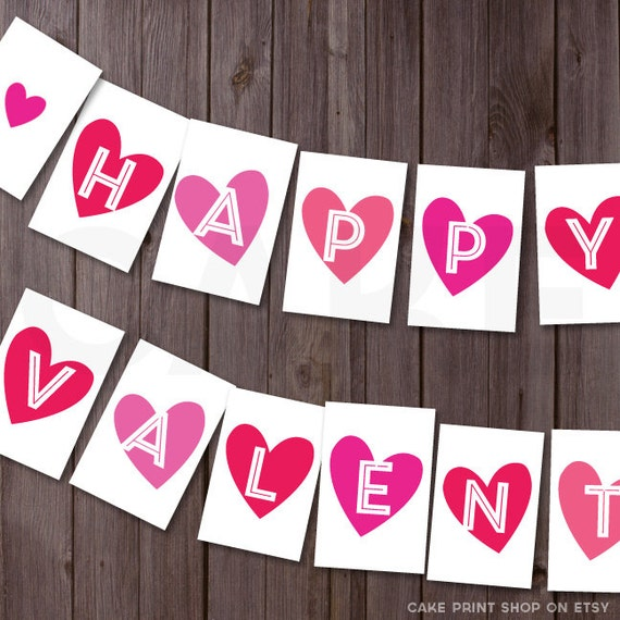 Universal image inside happy valentines day banner printable