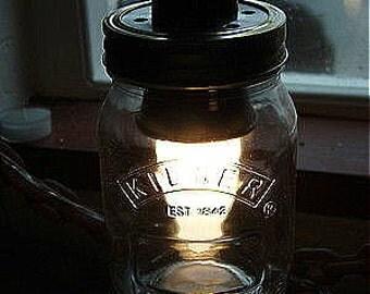 Kilner Jar Lights Lids Discs for lamp holder Retro