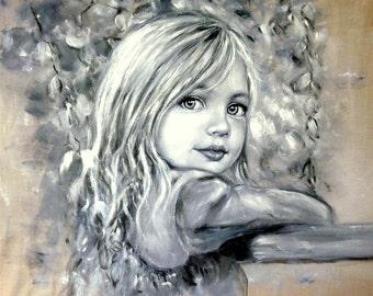 Portrait in Oil ,Paintings in Oil,Kids Portraits