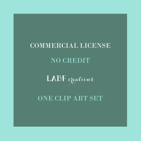 Commercial License NO CREDIT LABFcreations ONE Clipart Set