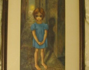 Keane Lithograph - Keane Print - Margaret Keane - Walter Margaret Keane - Keane Litho - 1962 Keane - The First Grail