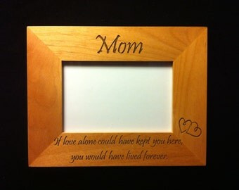 Loved One Memorial Engraved Frame - Loss of Loved One - Bereavement Gift - Sympathy Gift - Loss of Mom - Loss of Grandma - Loss of Father