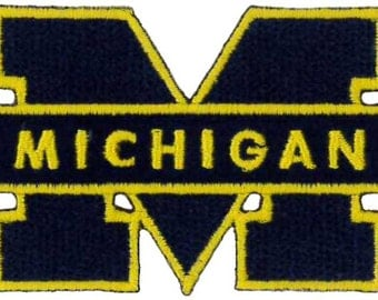 MICHIGAN UNIVERSITY Iron on Patch......About 3 x 1.5 inches