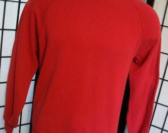 Vintage JERZEES red raglan sweatshirt xl Made in the USA 80s