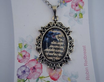 Edgar Allan Poe, The Raven, Nevermore necklace