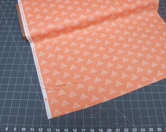 Prisma Elements Soft Wulfenite Coral Triangles  by Art Gallery Fabrics