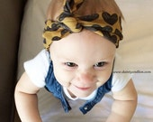 Heart of Gold Knotted Headband ( baby - adult )