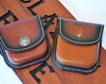 Hand Made Custom Made Molded Leather Ammo Pouch
