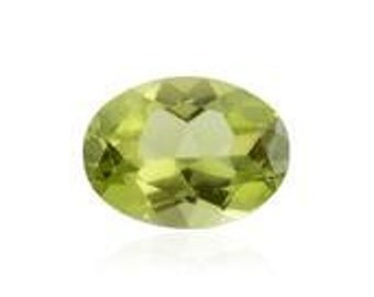Hebei Peridot Loose Gemstone Oval Cut 1A Quality 8x6mm 1.10 cts.