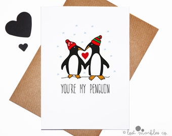 Sweet Christmas Card ∙ Cute Holiday Card ∙ Christmas Card ∙ Greetings Card ∙ Love Card ∙ Card for Him ∙ Card for Her ∙ You're my Penguin
