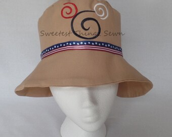 Mickey Hat/ Patriotic Hat/ Stars and Stripes Hat/ Khaki  Hat/ Bucket Hat/ Red White and Blue Hat
