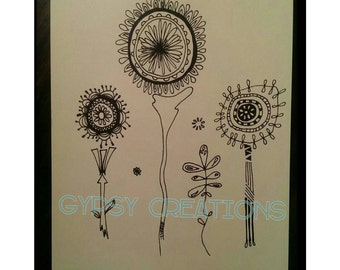 Whimsical Flowers SALE