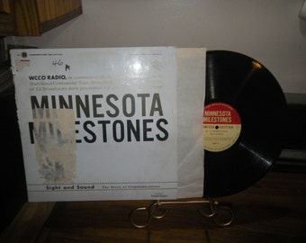 lp record wcco minnesota milestones #11 sight and sound communications 1958 tcf twin cities federal