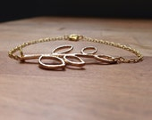 Olive branch gold bracelet