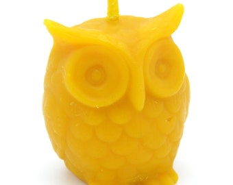 Pure Natural Beeswax Honey Scent Handmade Owl Shape Candle