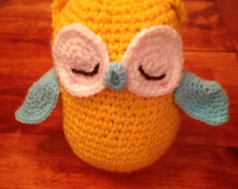 Cute Handmade Crocheted Sleepy Owl