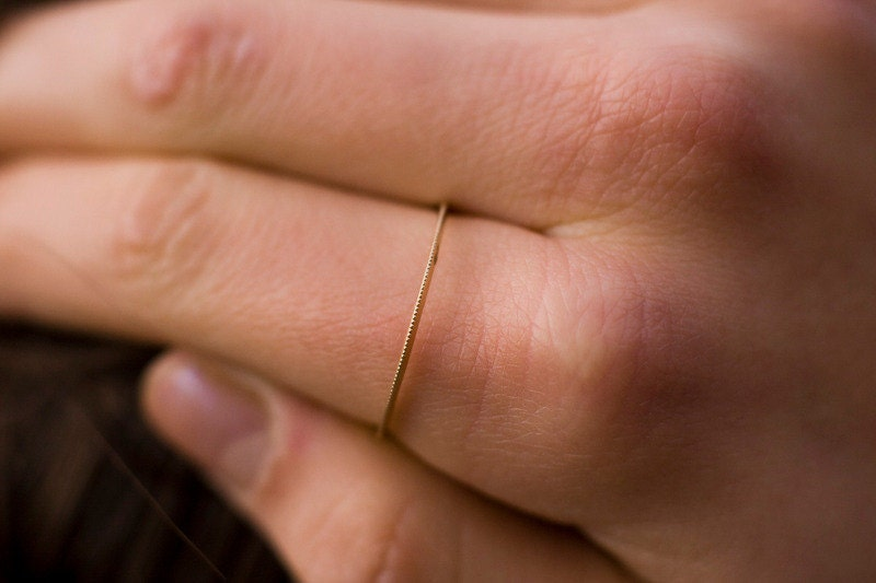Goldring schmal  Klassiker Super winzigen Goldband schmale Goldring solide