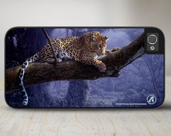 "Leopard iPhone 5 Case, Leopard iPhone 5s Case, Leopard Protective Phone Case ""Deadly Intent"" 50-8215"