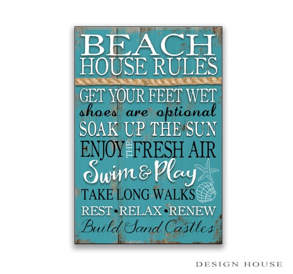 Beach house rules sign Beach signs beach rules cottage signs