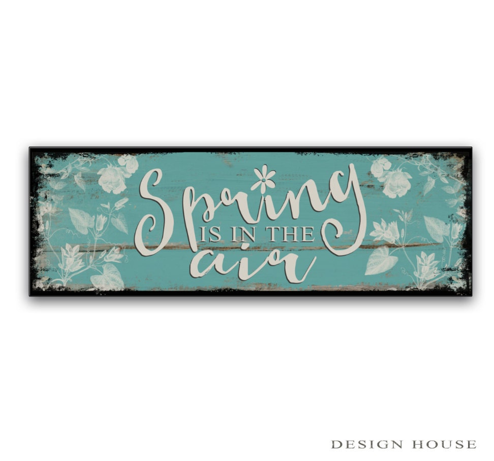 Spring signs spring wooden signs spring decor spring plaques - Custom signs for home decor concept ...