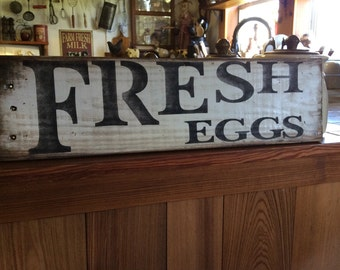 Fresh Eggs pallet wood sign