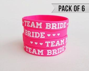 Bachelorette Party Favors - Bachelorette Party Bracelet - Pink - Pack of 6