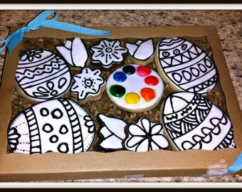 Paint your own Easter Sugar Cookie Kit Decorate your own
