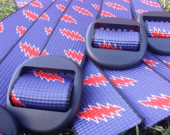 Navy Grateful Dead Bolt Hiking Belt
