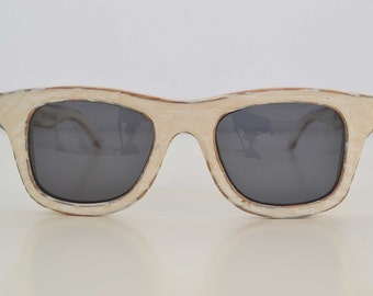 Hand-made sunglasses from solid wood, Shabby-chic, Eco-friendly, made in Italy