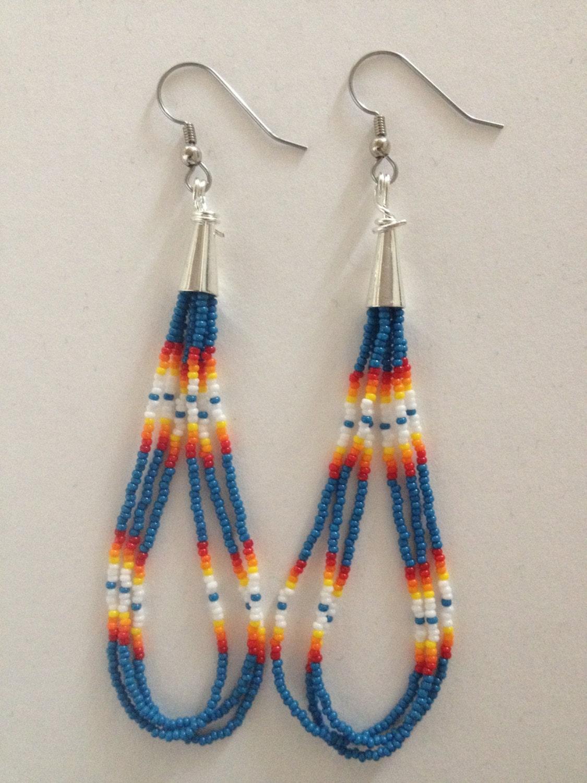 handmade american beaded earrings