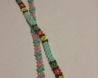 Daisy chain anklet or choker