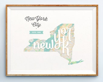 New York City Print - New York City Art - New York City Poster