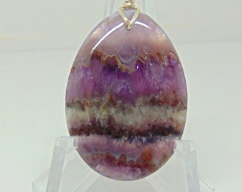 Banded Amethyst Pendant #05
