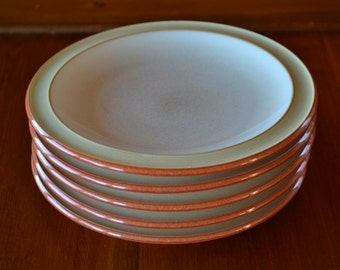 Set of 5 Denby Salad Plates Made in England