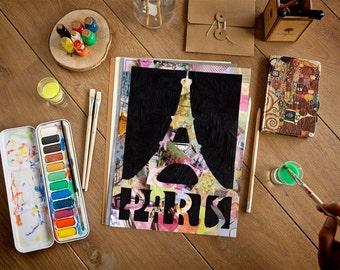 Paris bedroom decor, Paris Print, Paris wall art, Paris dcor, Mother's day gift, bohemian decor, Painting of Paris, Eiffel tower