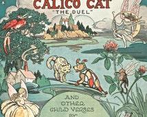 Gingham Dog and Calico Cat The Duel children's book illustration digital download printable image clip art 300 dpi