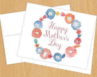 Mother's Day Card - Watercolor Florals Mother's Day - Greeting Card