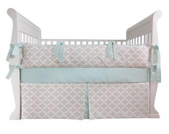 Mint Glow Baby Bedding