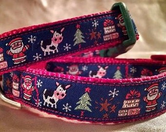 Santa Moo Dog Collar