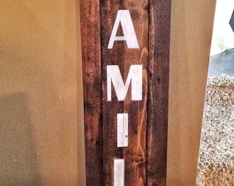 Family distressed wood sign