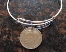 Morocco 1 dirham expandable style wire bangle bracelet