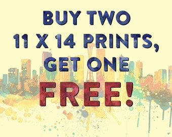 Special - Buy 2 Get 1 FREE 11 x 14 prints - Choose Your Favorites - Home/Office/Kid's Decor